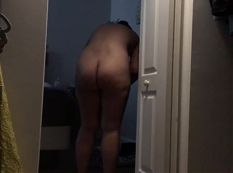 Getting dressed after shower