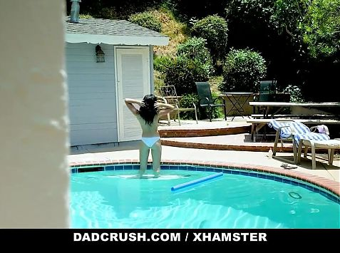 DadCrush - Sexy Stepdaughter Gags On My Fat Cock