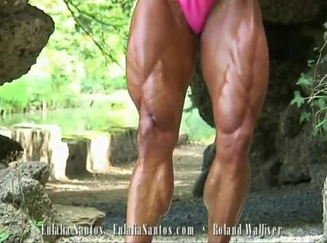 Smoothe Big Muscles On Eulalias Body!