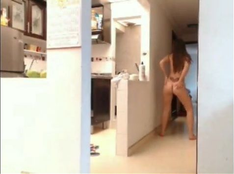 Valery in the kitchen camgirl