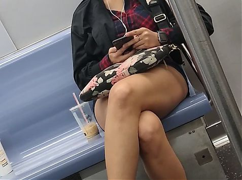 Fine cutie on the train